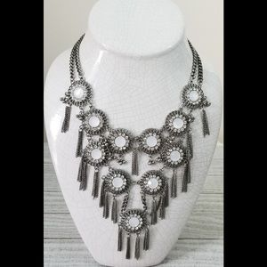 Charming Charlie Silver Tone Statement Necklace